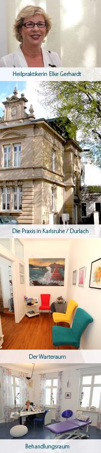 Anfahrt zur Naturheilpraxis Gerhardt in Karlsruhe, Durlach
