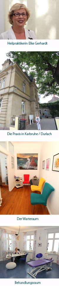 Anfahrt zur Naturheilpraxis Gerhardt in Karlsruhe / Durlach